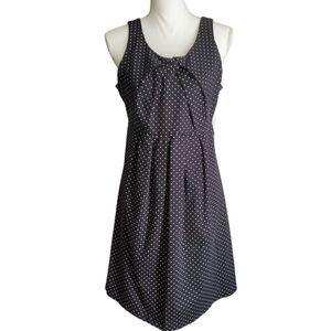 Motherhood Polka Dot Sleeveless Maternity Dress